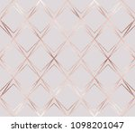 luxury rose gold geometric... | Shutterstock .eps vector #1098201047