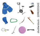different kinds of sports... | Shutterstock .eps vector #1098205343