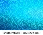 light blue vector doodle... | Shutterstock .eps vector #1098225503