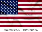 United States of America waving flag - stock photo