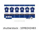japan football or soccer team... | Shutterstock .eps vector #1098242483