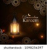 ramadan kareem  greeting... | Shutterstock .eps vector #1098256397