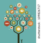 social network tree business... | Shutterstock .eps vector #109826717