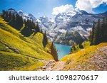idyllic panorama view of the... | Shutterstock . vector #1098270617