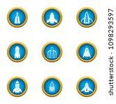 blast off icons set. flat set... | Shutterstock .eps vector #1098293597