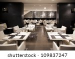 interior of modern restaurant | Shutterstock . vector #109837247