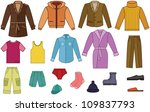 men clothing collection   color ... | Shutterstock . vector #109837793