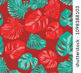 seamless tropical pattern with... | Shutterstock .eps vector #1098388103