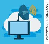 data center technology | Shutterstock .eps vector #1098395207