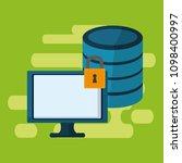 data center technology | Shutterstock .eps vector #1098400997