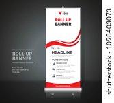 roll up banner design template  ... | Shutterstock .eps vector #1098403073