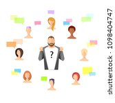 set of avatar. a set of people. ... | Shutterstock .eps vector #1098404747