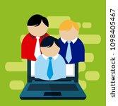 data center technology | Shutterstock .eps vector #1098405467