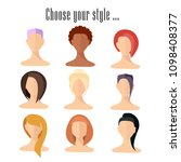 set of avatar. a set of people. ... | Shutterstock .eps vector #1098408377