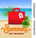 summer enjoy your holidays... | Shutterstock .eps vector #1098424643