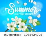 summer  enjoy your holidays... | Shutterstock .eps vector #1098424703