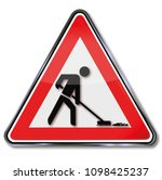 sign cleaning power and working ... | Shutterstock . vector #1098425237