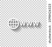symbol of internet with globe... | Shutterstock .eps vector #1098426323