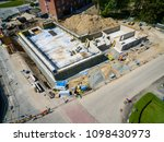 construction site in the town... | Shutterstock . vector #1098430973