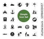 icon set of travel symbols.... | Shutterstock .eps vector #1098433457
