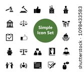 icon set of jurisprudence signs.... | Shutterstock .eps vector #1098433583