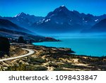 the landscape of the lake with... | Shutterstock . vector #1098433847