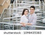 romantic tourist couple...   Shutterstock . vector #1098435383