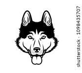 siberian husky dog   isolated... | Shutterstock .eps vector #1098435707