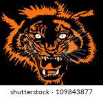 roaring tiger head   Shutterstock .eps vector #109843877