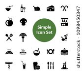 icon set of eating and cooking... | Shutterstock .eps vector #1098450347