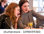 two young and trendy hipster...   Shutterstock . vector #1098459383