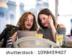 two young and trendy hipster...   Shutterstock . vector #1098459407