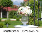 wedding gentle decoration | Shutterstock . vector #1098460073