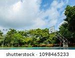 outdoor basketball court in the ...   Shutterstock . vector #1098465233