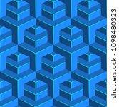 seamless isometric pattern.... | Shutterstock .eps vector #1098480323