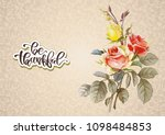 shabby chic vector illustration ... | Shutterstock .eps vector #1098484853