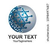creative abstract digital... | Shutterstock .eps vector #1098497687