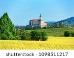 mikulov castle in south moravia ... | Shutterstock . vector #1098511217