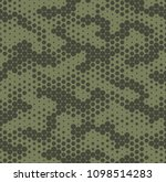 camouflage dotted seamless... | Shutterstock .eps vector #1098514283