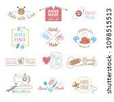 handmade logo vector wool... | Shutterstock .eps vector #1098515513