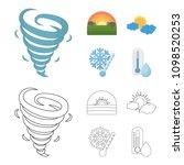 tornado  sunrise  cloudiness ...   Shutterstock .eps vector #1098520253