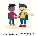 couple of elementary school... | Shutterstock .eps vector #1098522113