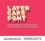 3d layer cake font set | Shutterstock . vector #1098522473