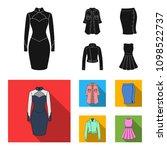 women clothing black  flat...   Shutterstock .eps vector #1098522737