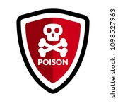 poison and shield.protection... | Shutterstock .eps vector #1098527963