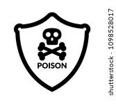 poison and shield.protection... | Shutterstock .eps vector #1098528017