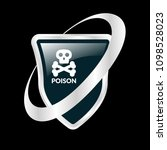poison and shield.protection... | Shutterstock .eps vector #1098528023