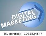 digital marketing   3d text... | Shutterstock . vector #1098534647