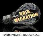 data migration   lightbulb on... | Shutterstock . vector #1098534653