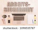 arbeitssicherheit   german word ... | Shutterstock . vector #1098535787